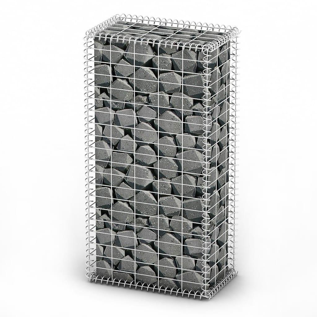 Afbeelding van vidaXL Schanskorf met deksels 100x50x30 cm gegalvaniseerd draad