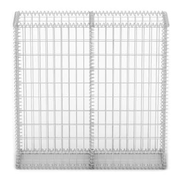 Gabion Base pour mur 100 x 100 x 30 cm[3/4]