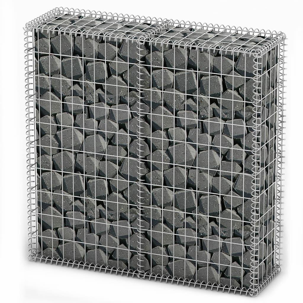 Afbeelding van vidaXL Schanskorf met deksels 100x100x30 cm gegalvaniseerd draad