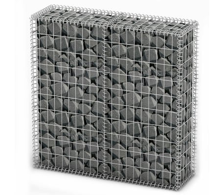Gabion Base pour mur 100 x 100 x 30 cm