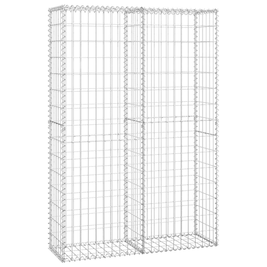 Afbeelding van vidaXL Schanskorf met deksels 150x100x30 cm gegalvaniseerd draad