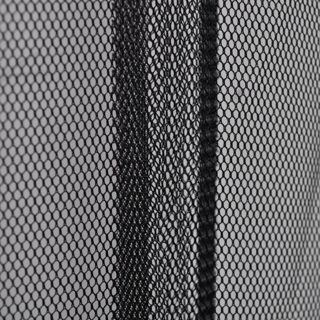 Vidaxl insect door screen 4 piece mesh curtain 220 x 100 insect door screen 4 piece mesh curtain 220 x 100 cm black polyester5 vtopaller Image collections