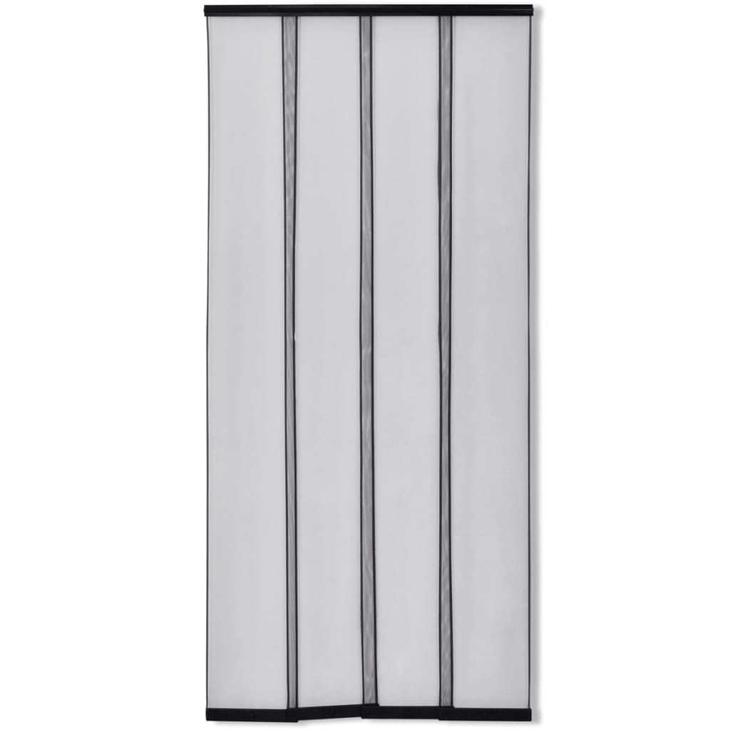 Insect door screen 4 piece mesh curtain 220 x 100 cm black for Insect door screen