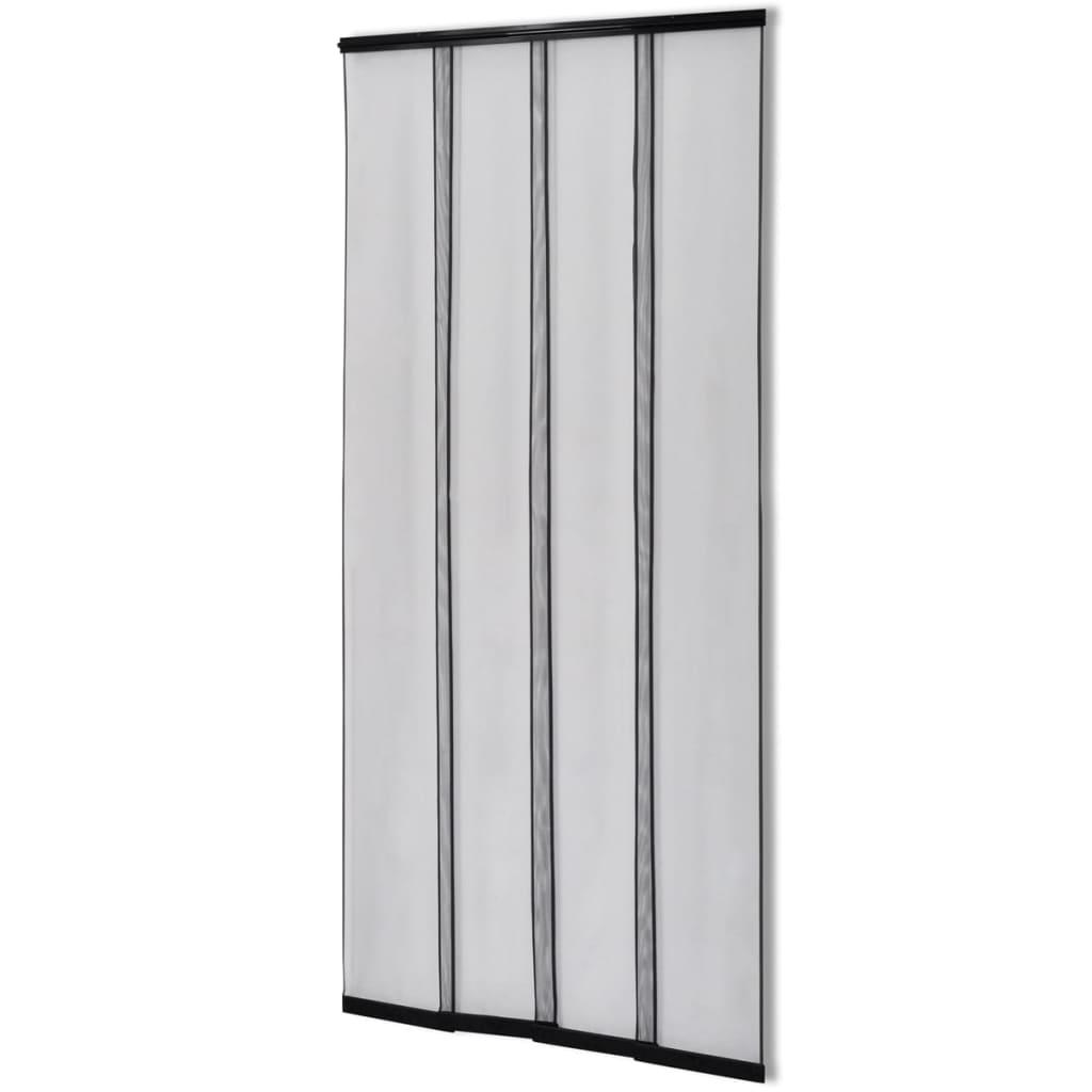 Afbeelding van vidaXL Insectenhor deurgordijn 220x100 cm polyester zwart