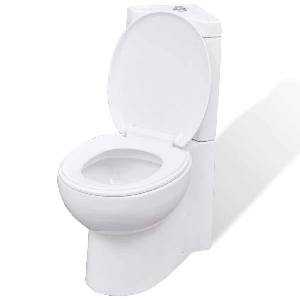 Corner Toilet : vidaXL.co.uk WC Ceramic Toilet Bathroom Corner Toilet White