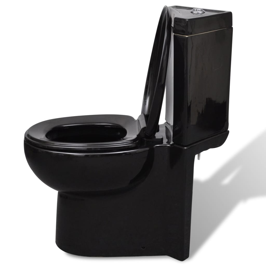vidaxl co uk wc ceramic toilet bathroom corner toilet black