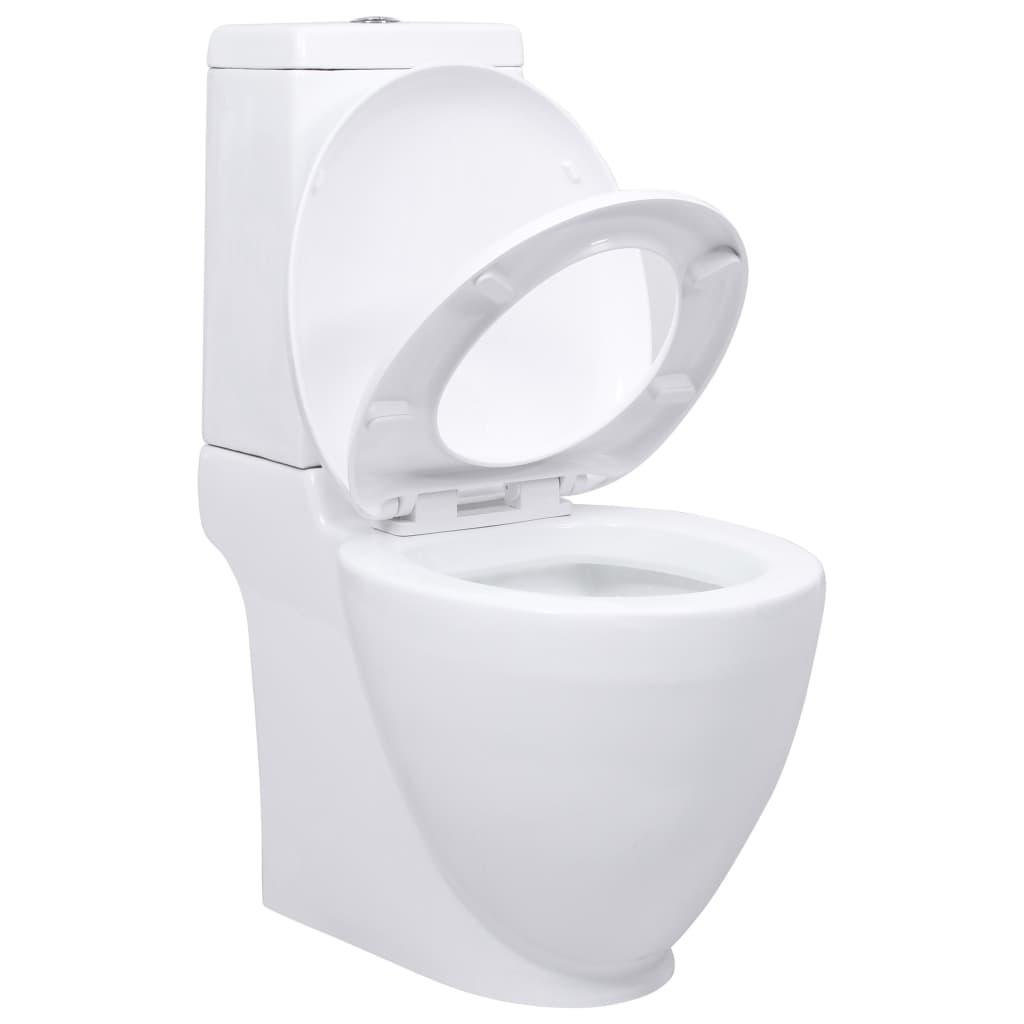 Vidaxl Co Uk Wc Ceramic Toilet Bathroom Round Toilet White