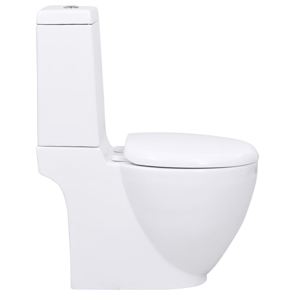 Acheter wc cuvette c ramique ronde blanc pas cher for Baignoire ceramique pas cher