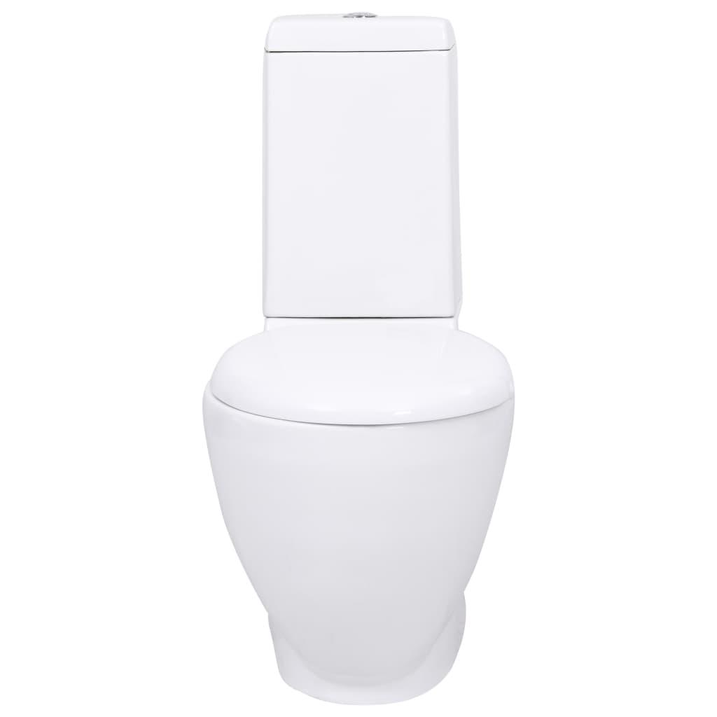 la boutique en ligne wc cuvette c ramique ronde blanc. Black Bedroom Furniture Sets. Home Design Ideas