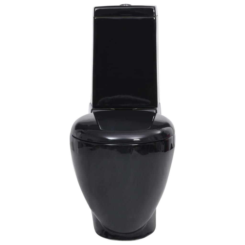 Handla Svart WC Kermisk Toalettstol | vidaXL.se