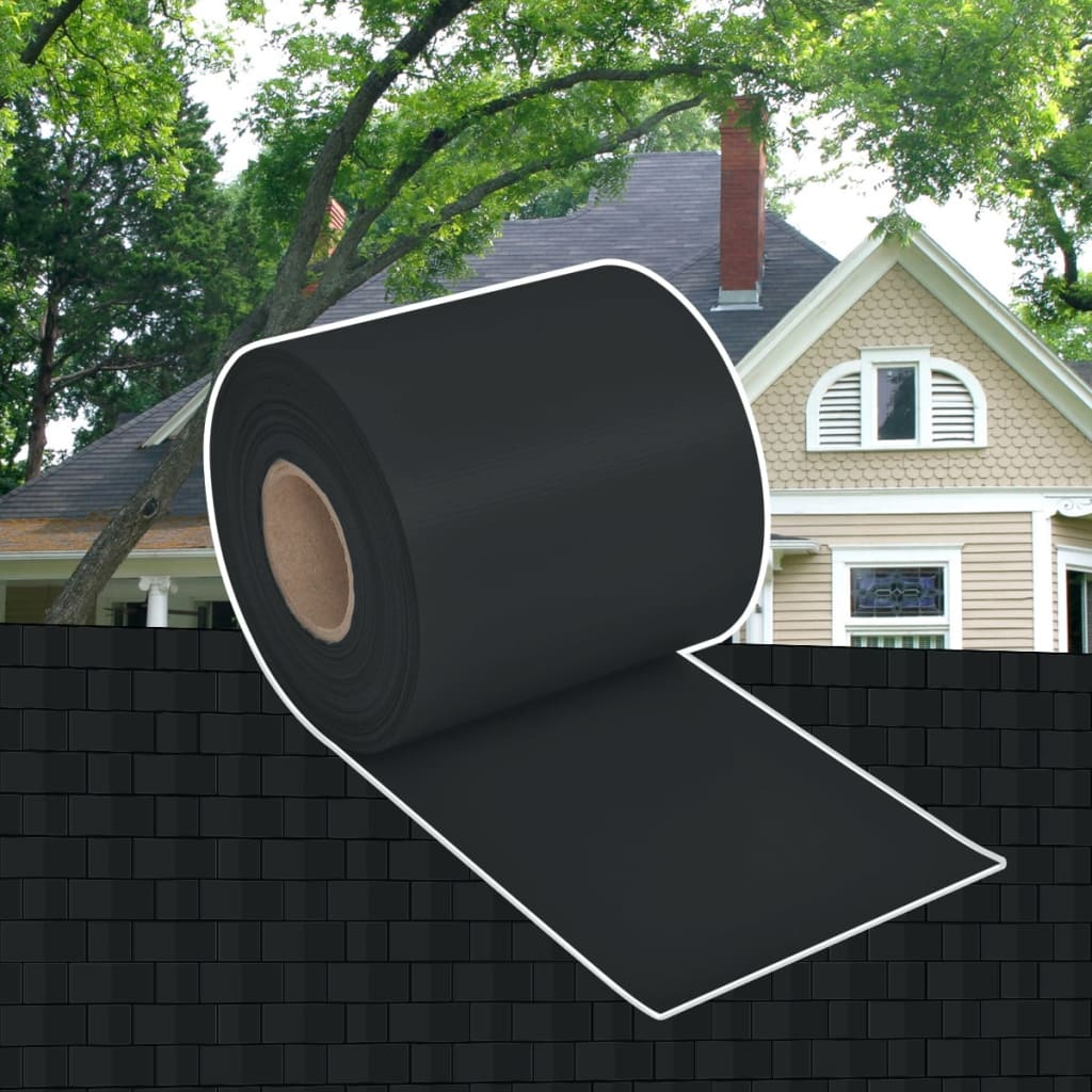 vidaXL PVC Fence Gate Roll 70 x 0,19 m Dark Grey