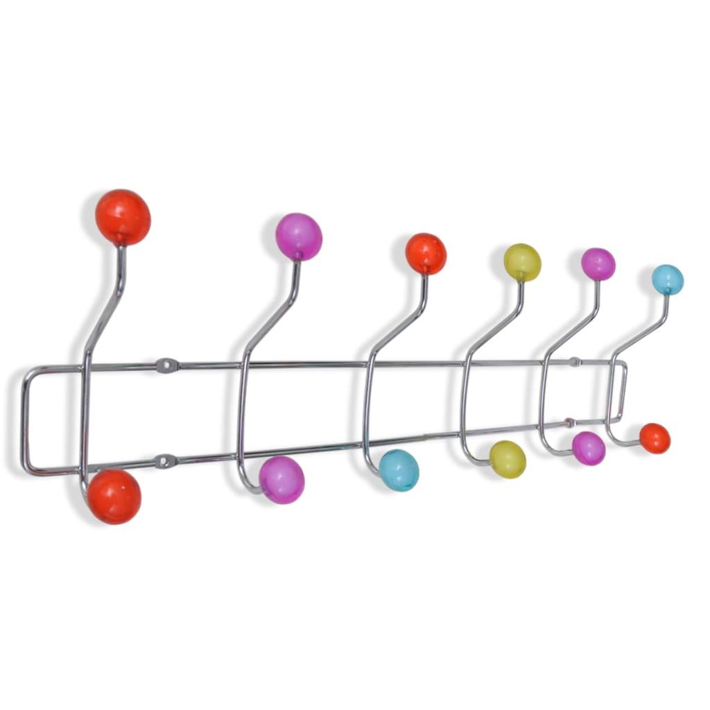 Perchero colorido de pared con 12 ganchos 2 unidades for Ganchos para percheros