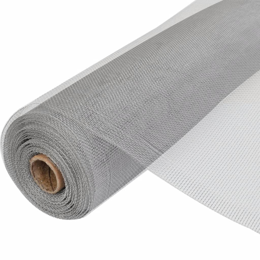 Aluminiumnät till Dörr / fönster 100 x 1000 cm Silver