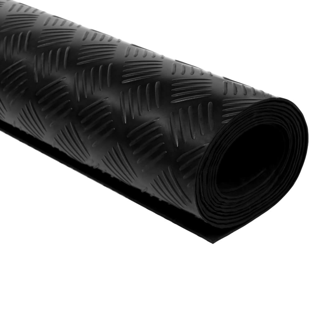 Rubber Floor Mat Anti Slip 5 X 1 M Checker Plate Vidaxl