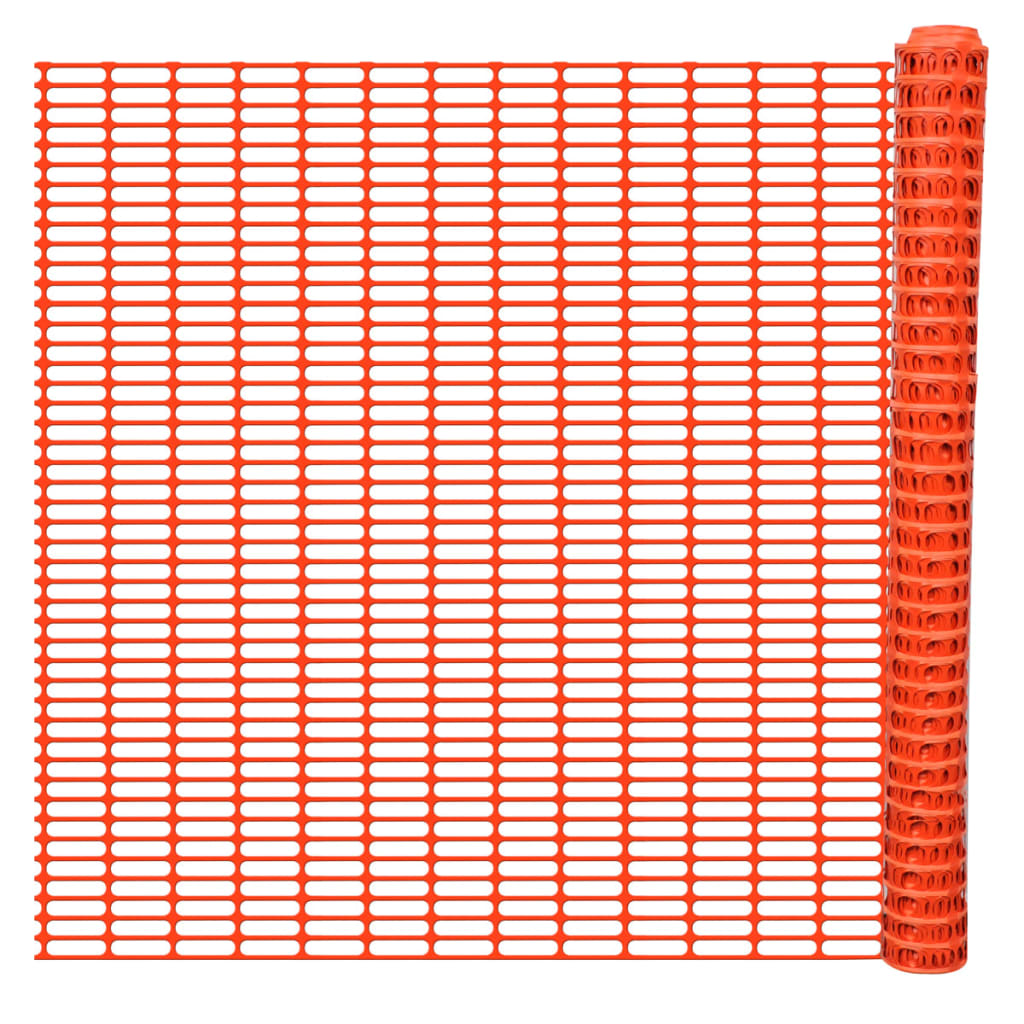 vidaXL Safety Fence Barrier Snow Fencing Trellis Orange 50 m