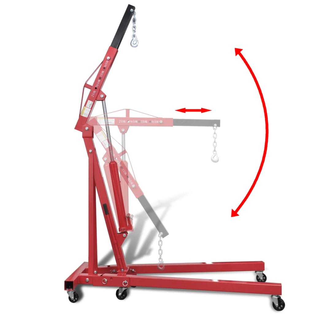 Folding Shop Crane Engine Motor Lift 2 Ton Vidaxl Com