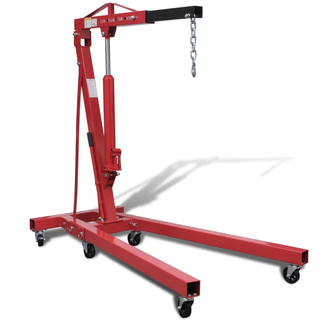 Folding Shop Crane Engine Motor Lift 2 Ton