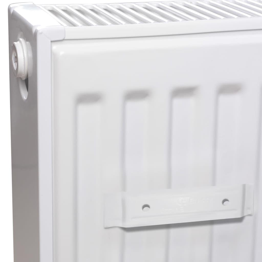 hvid compact konvektor radiator med side konnektorer 120 x 10 x 60 cm. Black Bedroom Furniture Sets. Home Design Ideas