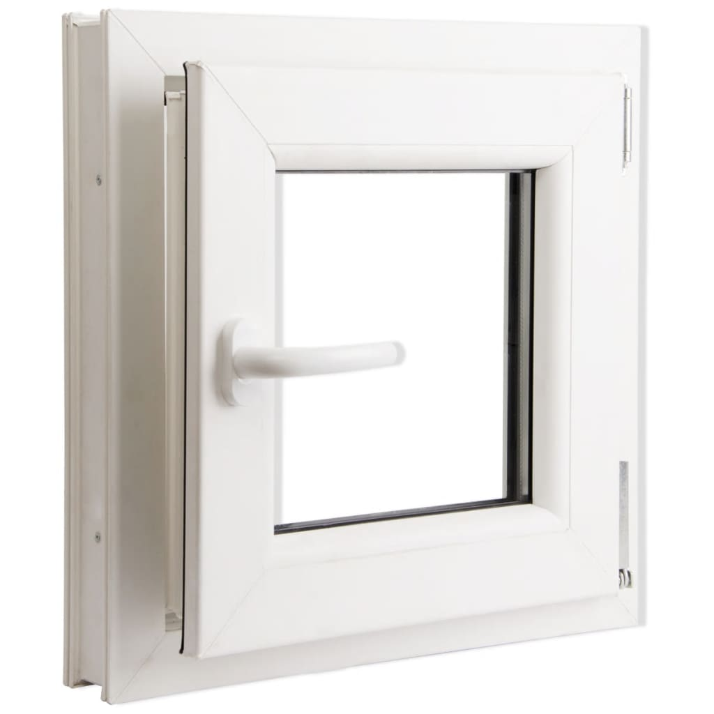 tilt turn pvc window handle on the left 500 x 500 mm
