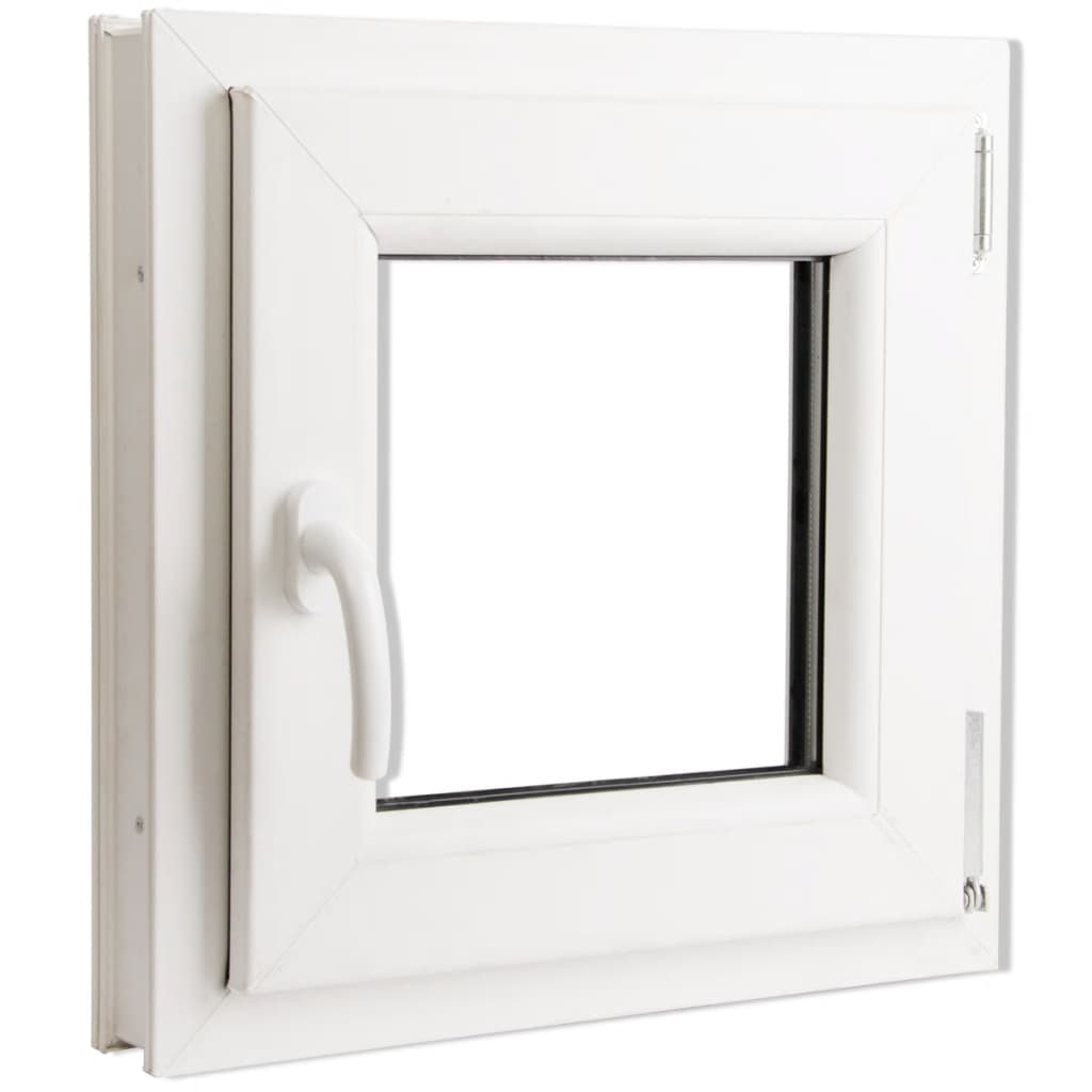 vidaXL.co.uk | Tilt & Turn PVC Window Handle on the Left 500 x 500 mm