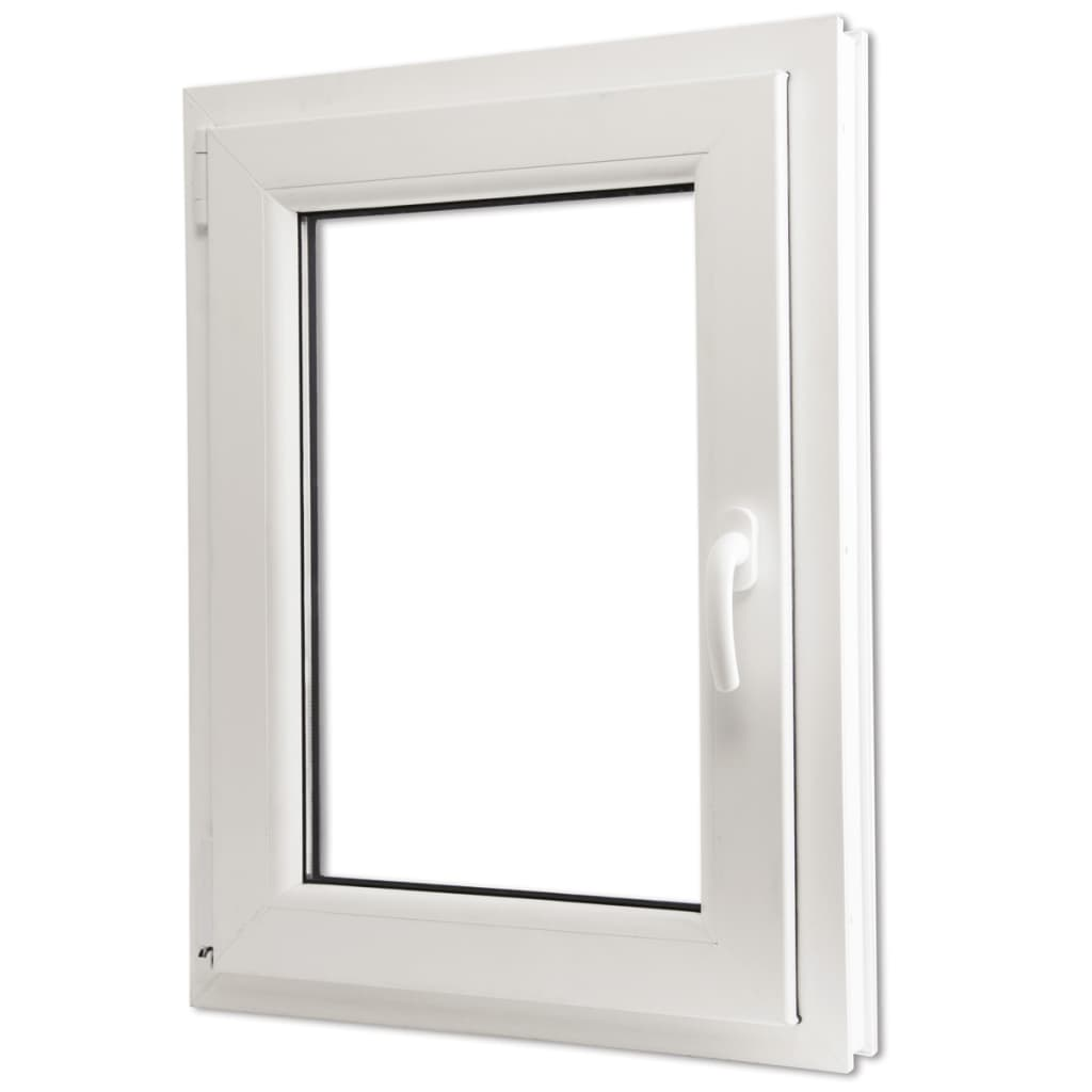 Tilt turn pvc window handle on the right for Fenetre double vitrage pvc