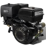 vidaXL Benzinemotor 15 PK 9,6 kW zwart