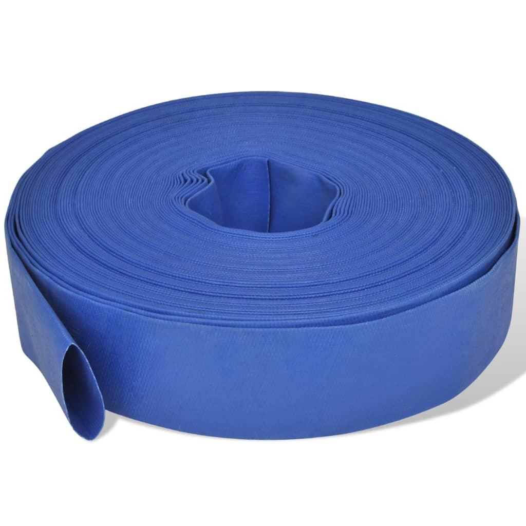 Platt vattenslang av PVC 50 m 2″
