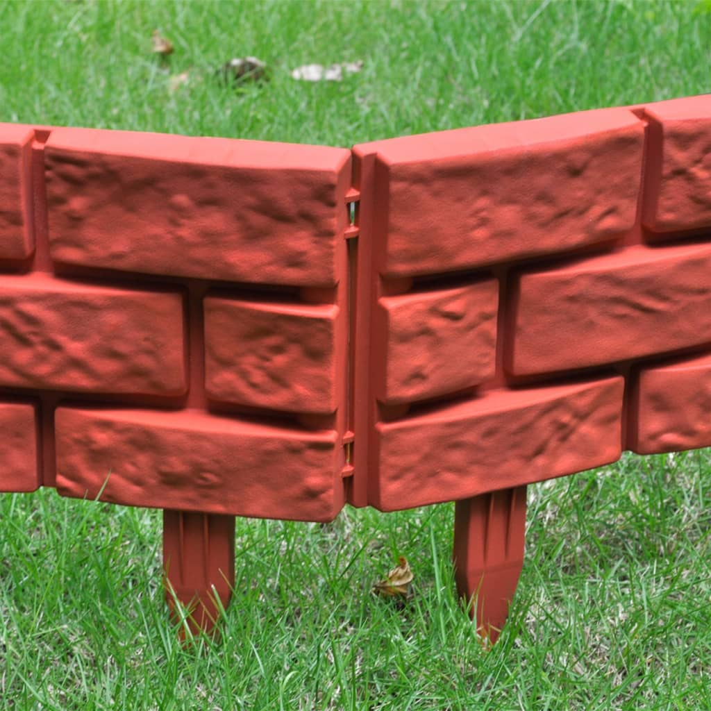 Acheter Bordures De Jardin Imitation Brique 11 Pi Ces Pas Cher