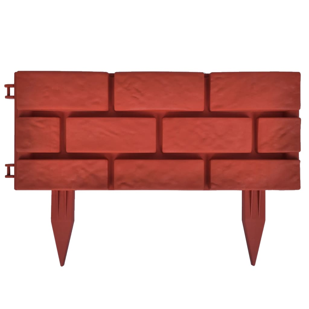 lawn divider with brick design 11 pcs