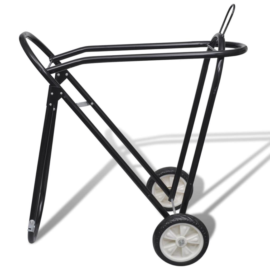 Acheter chariot porte selle pliable m tal avec roues pas cher - Chariot porte roue tracteur ...