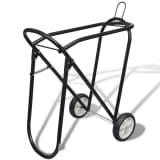 Metal Sammenfoldelig Saddle Rack med hjul