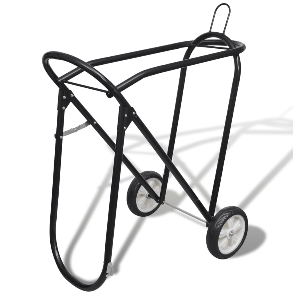 acheter chariot porte selle pliable m tal avec roues pas. Black Bedroom Furniture Sets. Home Design Ideas
