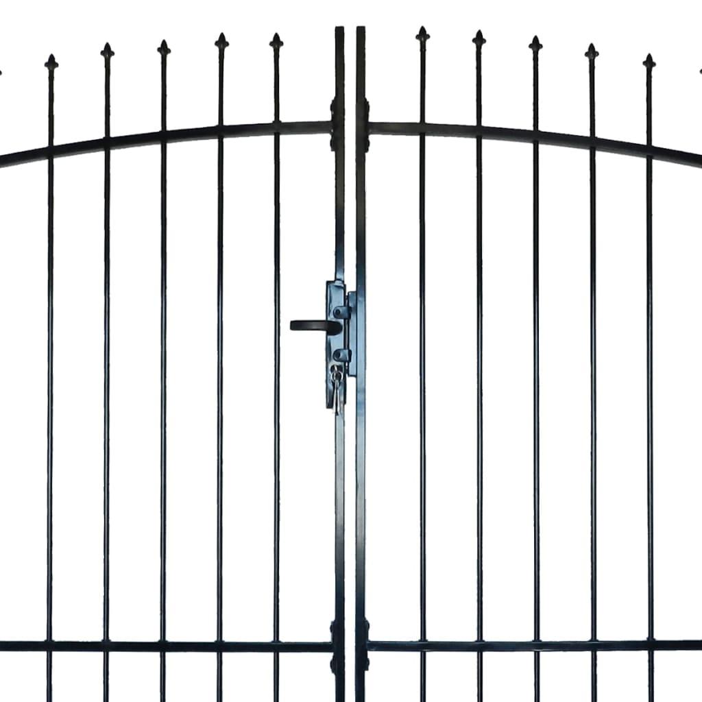 acheter portail double porte surmont de piques 300 x 225 cm pas cher. Black Bedroom Furniture Sets. Home Design Ideas