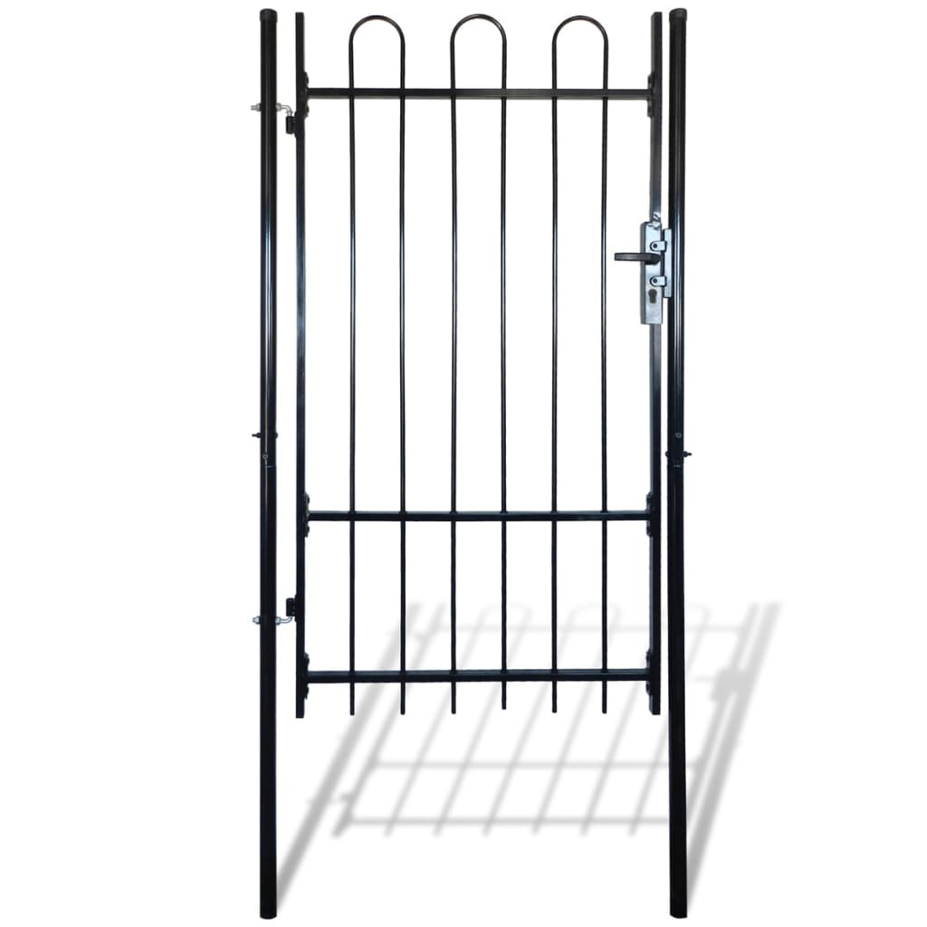 vidaXL Hajlított tetejű kerítés kapu 100 x 198 cm