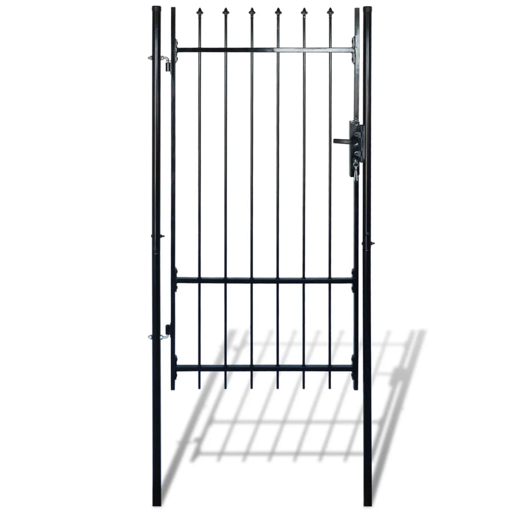 "vidaXL Single Door Fence Gate with Spear Top 39""W x 89""H"