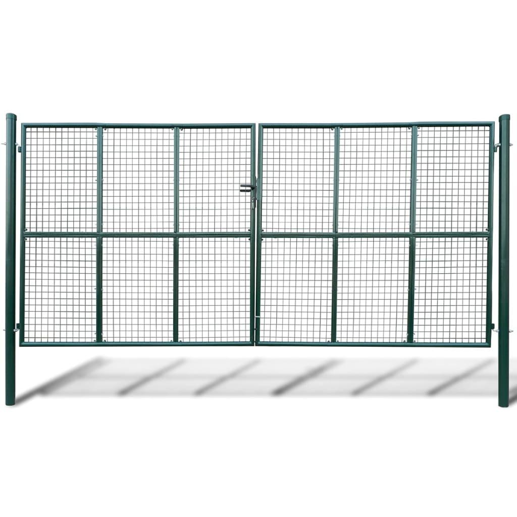 Cancello a rete per giardino 415 x 225 cm 400 x 175 cm for Cancelli da giardino