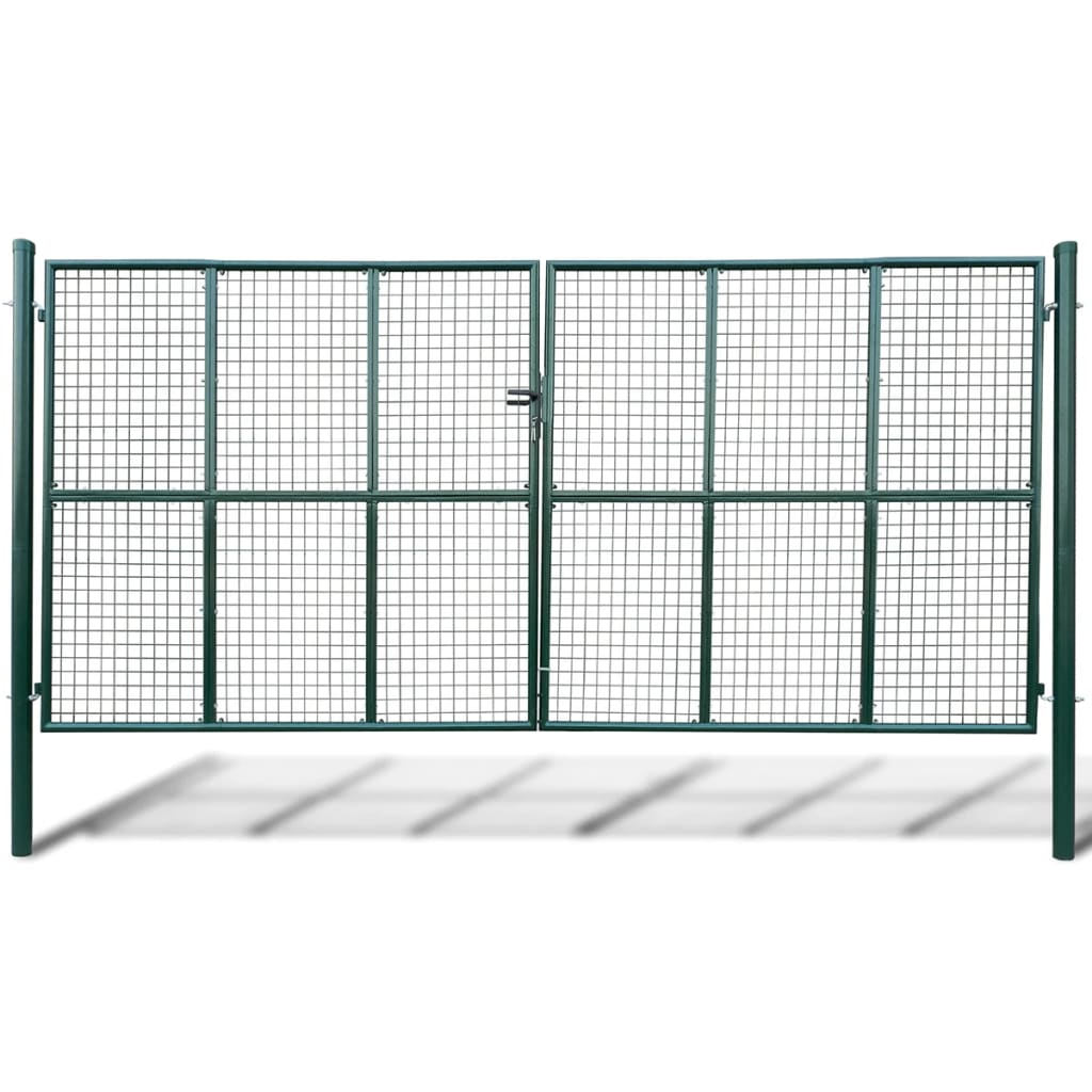 vidaXL Hálórácsos kerti kapu 415 x 250 cm / 400 200