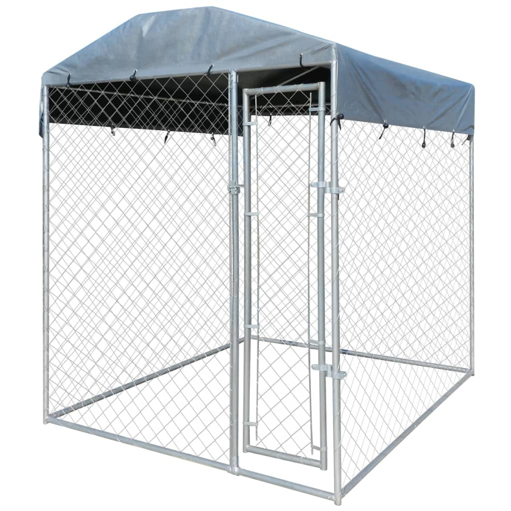 Heavy Duty Outdoor Dog Kennel With Canopy Top 79 Quot X 79 Quot X