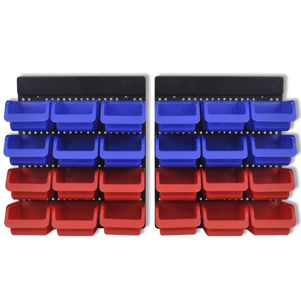 acheter etag re bac bec combinaison murale bleu et rouge 2 pi ces pas cher. Black Bedroom Furniture Sets. Home Design Ideas