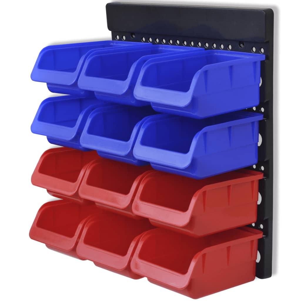 Werkstattboxen Für Die Wand Blau Und Rot (2