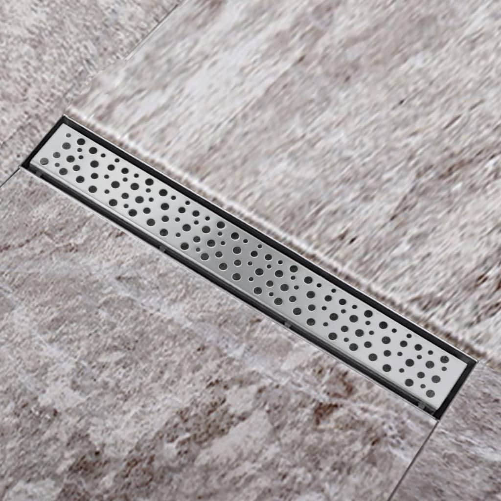 vidaXL Stainless Steel Linear Shower Floor Drain Bubble 540 x 110 mm
