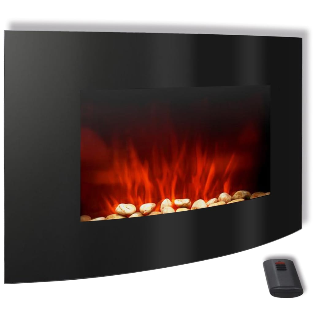 curved wall mounted electric fireplace 2000