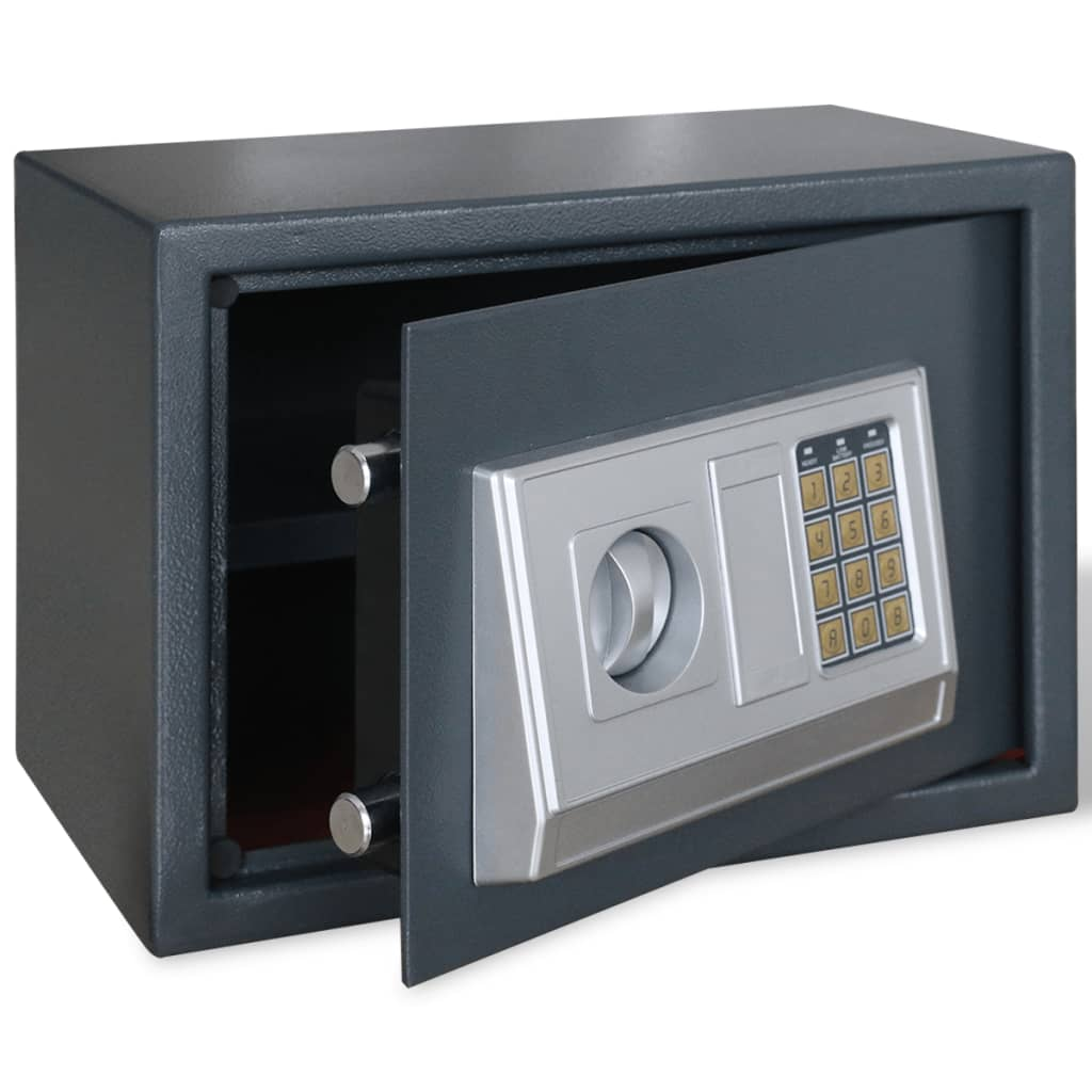vidaXL Cassaforte digitale elettronica con mensola 35 x 25 cm