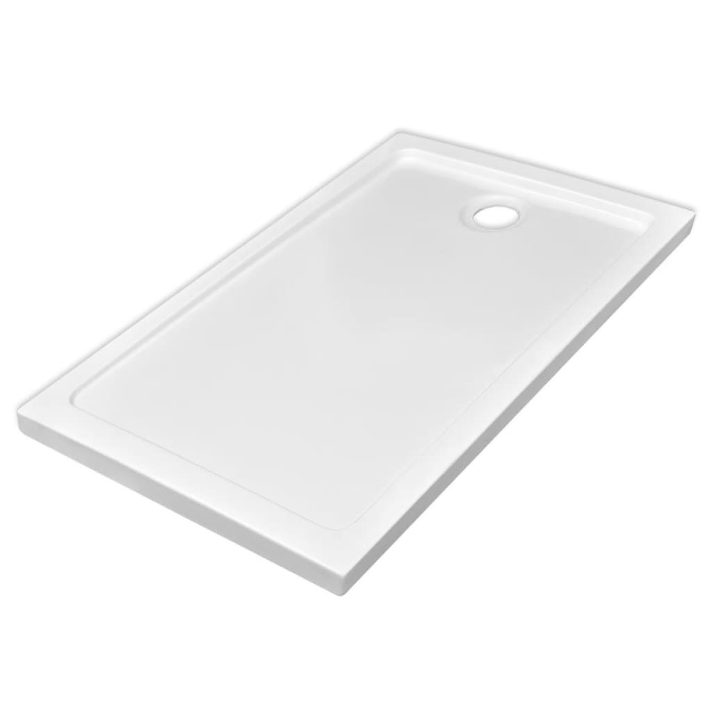 Plato de ducha rectangular de abs color blanco 70 x 120 - Plato ducha rectangular ...
