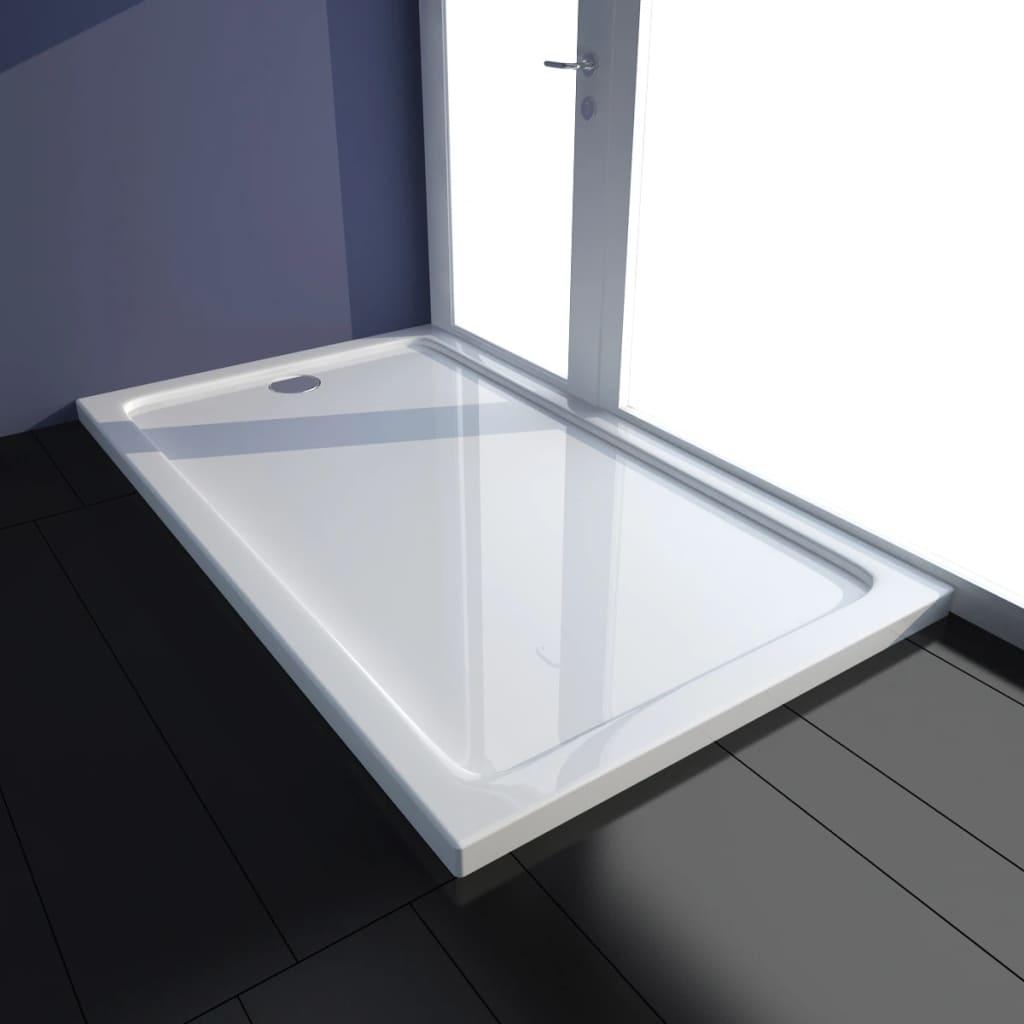 Rektangulärt ABS Duschgolv Vit 70 x 120 cm