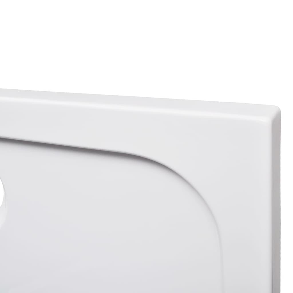 Piatto doccia rettangolare in abs bianco 80 x 90 cm - Dimensioni piatto doccia rettangolare ...