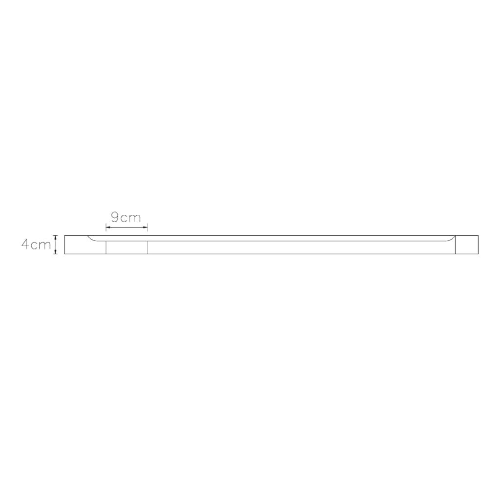 Plato de ducha rectangular de abs color blanco 80 x 110 for Plato de ducha 70 x 80