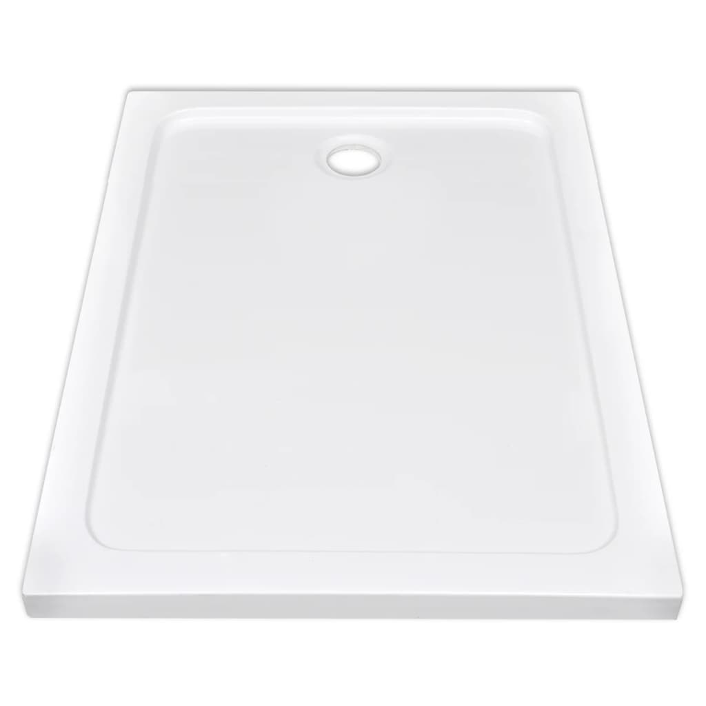 Plato de ducha rectangular de abs color blanco 80 x 110 for Platos de ducha de colores