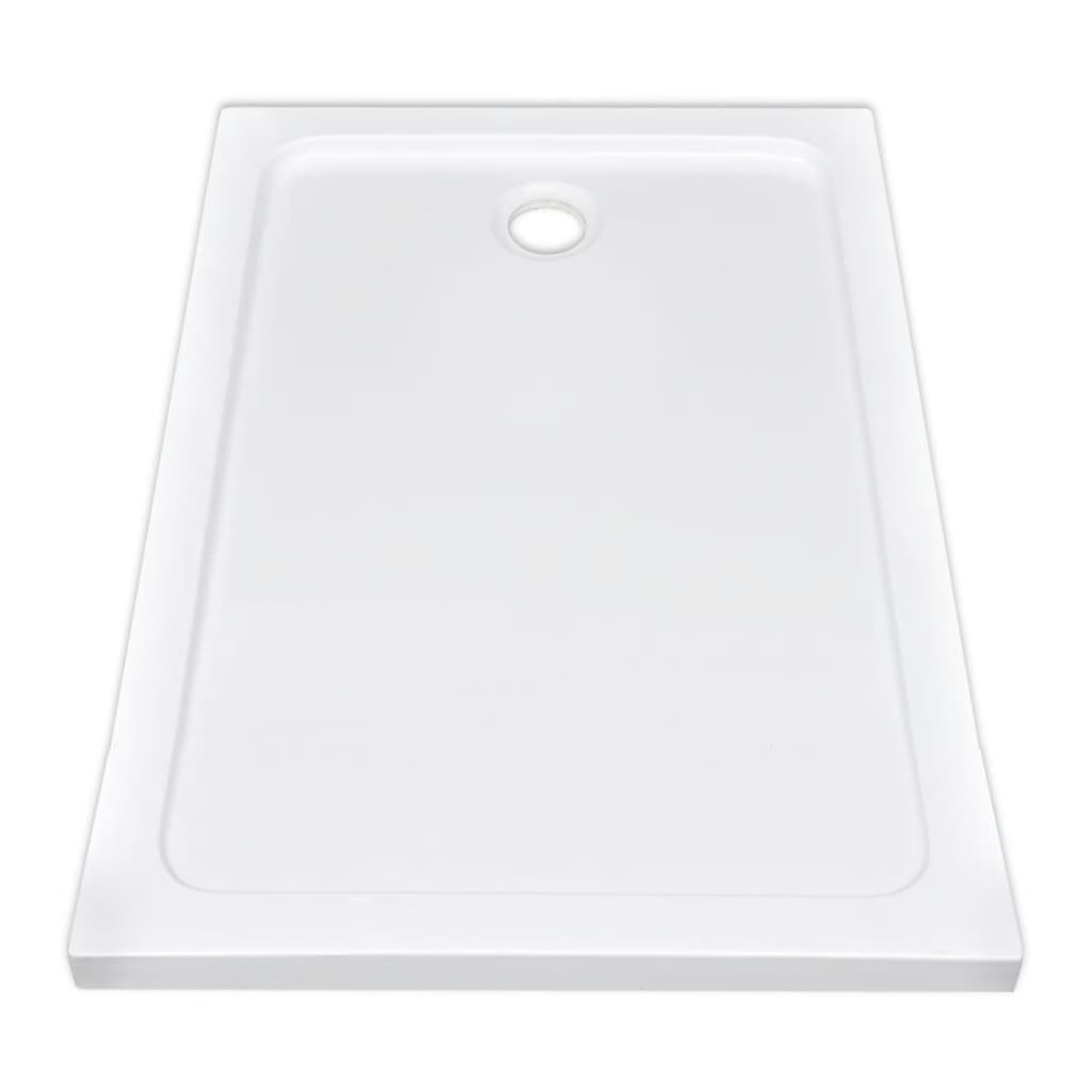 Plato de ducha rectangular de abs color blanco 80 x 120 - Plato ducha rectangular ...