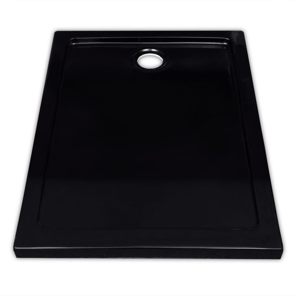 Plato de ducha rectangular de abs color negro 70 x 90 cm - Plato ducha rectangular ...